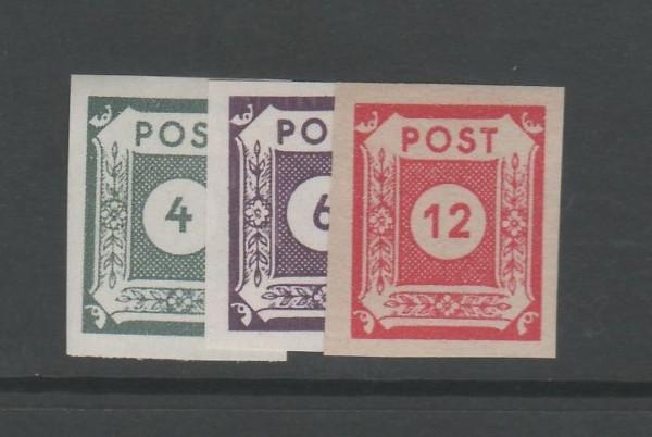 SBZ Ost-Sachsen Mi-Nr.. 61-63 ** postfrisch