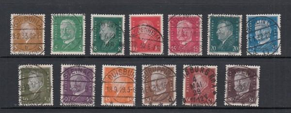 Deutsches Reich Mi-Nr. 410-422 zentrisch gestempelt