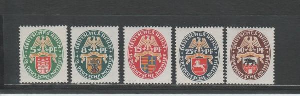 Deutsches Reich Mi-Nr. 425-429Y ** postfrisch - Wz. Waffeln liegend