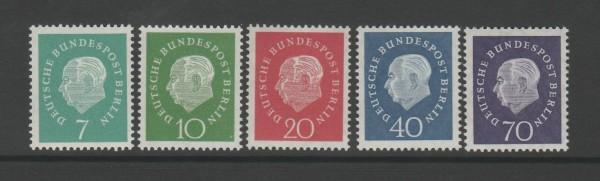 Berlin Mi-Nr. 182-186 ** postfrisch