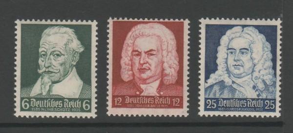 Deutsches Reich Mi-Nr. 573-575 ** postfrisch