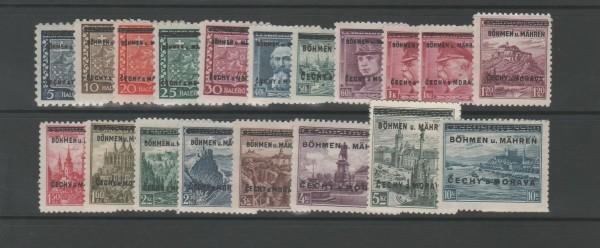 Böhmen und Mähren Mi-Nr. 1-19 ** postfrisch