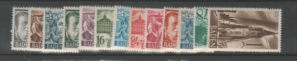 Französische Zone Baden Mi-Nr. 1-13 ** postfrisch