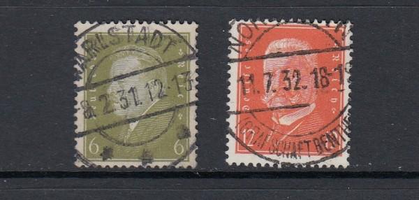 Deutsches Reich Mi-Nr. 465-466 zentrisch gestempelt