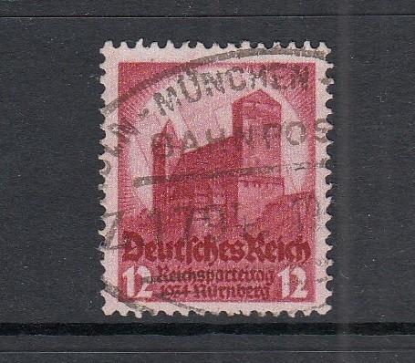 Deutsches Reich Mi-Nr. 547 zentrisch gestempelt mit Bahnpoststempel