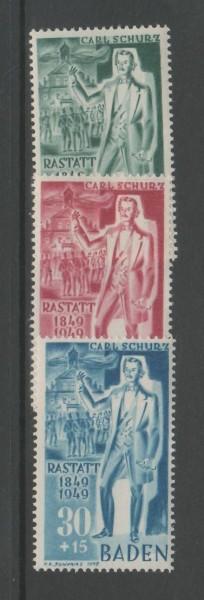 Französische Zone Baden Mi-Nr. 50-52 ** postfrisch