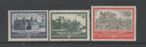 Generalgouvernement Mi-Nr. 63-65 ** postfrisch