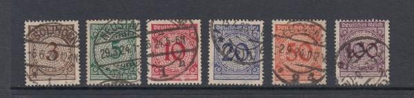 Deutsches Reich Mi-Nr. 338-343 gestempelt