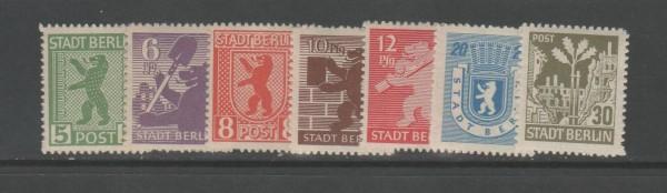 SBZ - Mecklenburg-Vorpommern Mi-Nr. 1-7 B ** postfrisch