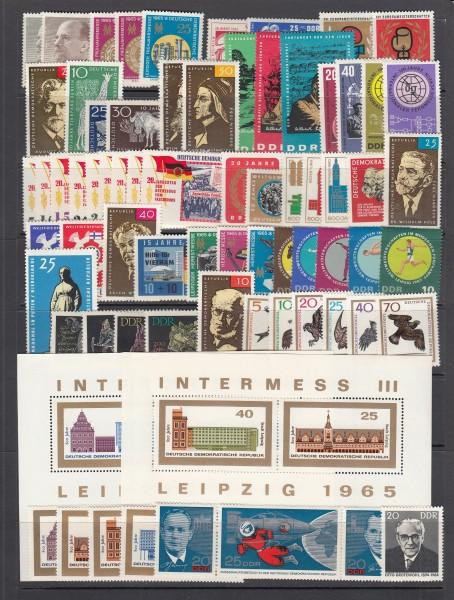 DDR Jahrgang 1965 ** postfrisch - komplett