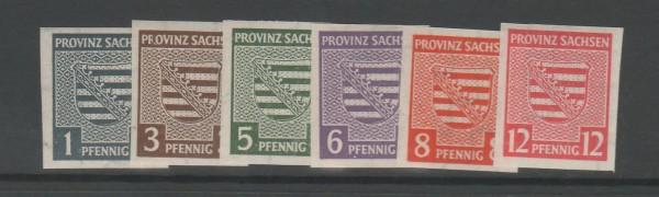 SBZ Provinz Sachsen Mi-Nr. 66-71 X ** postfrisch