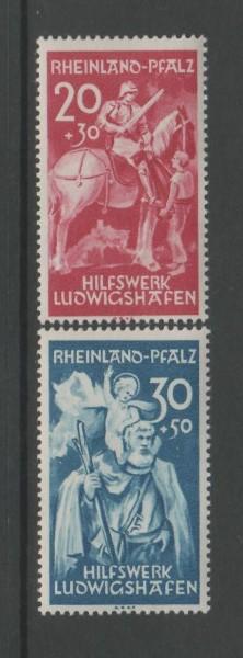 Französische Zone Rheinland Pfalz Mi-Nr. 30-31 ** postfrisch