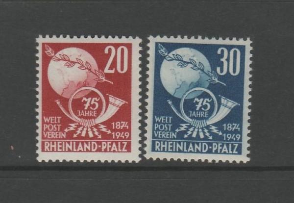 Französische Zone Rheinland Pfalz Mi-Nr. 51-52 ** postfrisch