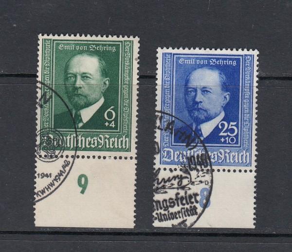 Deutsches Reich Mi-Nr. 760-761 gestempelt mit Sonderstempel + Unterrand