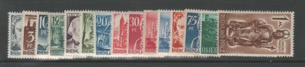 Französische Zone Rheinland Pfalz Mi-Nr. 1-15 ** postfrisch