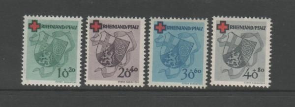 Französische Zone Rheinland Pfalz Mi-Nr. 42-45 A ** postfrisch