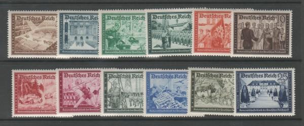 Deutsches Reich Mi-Nr. 702-713 ** postfrisch
