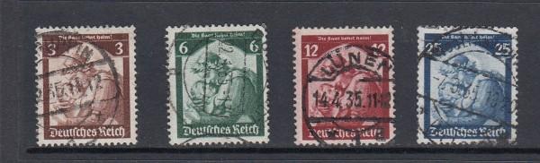Deutsches Reich Mi-Nr. 565-568 zentrisch gestempelt
