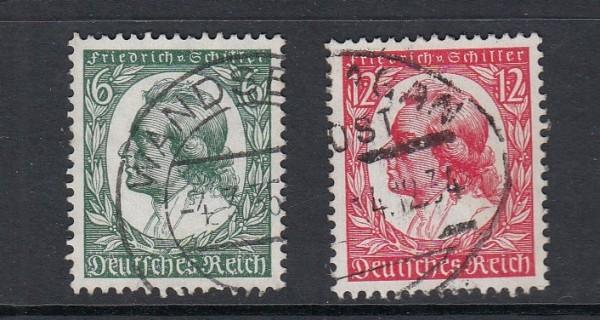 Deutsches Reich Mi-Nr. 554-555 gestempelt