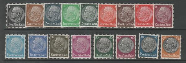 Deutsches Reich Mi-Nr. 512-528 ** postfrisch - Hindenburg
