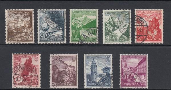 Deutsches Reich Mi-Nr. 675-683 gestempelt