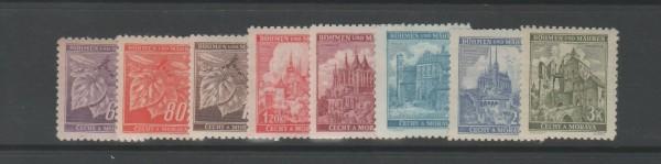 Böhmen und Mähren Mi-Nr. 65-72b ** postfrisch