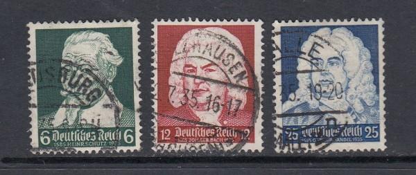 Deutsches Reich Mi-Nr. 573-575 gestempelt