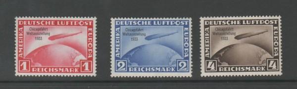 Deutsches Reich Mi-Nr. 496-498 ** postfrisch - Chicagofahrt