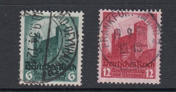 Deutsches Reich Mi-Nr. 546-547 zentrisch gestempelt