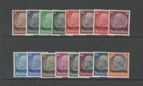 Besetzung II. Weltkrieg Luxemburg Mi-Nr. 1-16 ** postfrisch
