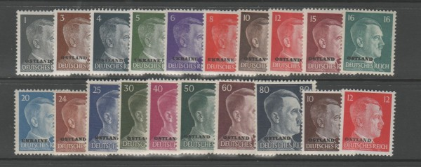 Besetzung II. Weltkrieg Ostland Mi-Nr. 1-20 ** postfrisch