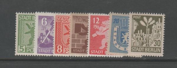 SBZ - Mecklenburg-Vorpommern Mi-Nr. 1-7 A ** postfrisch