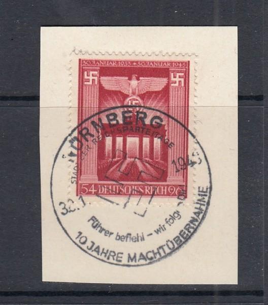 Deutsches Reich Mi-Nr. 829 gestempelt Sonderstempel auf Briefstück
