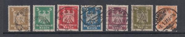 Deutsches Reich Mi-Nr. 355-361 gestempelt