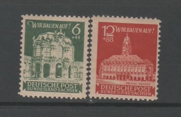 SBZ Ost-Sachsen Mi-Nr. 64-65 ** postfrisch