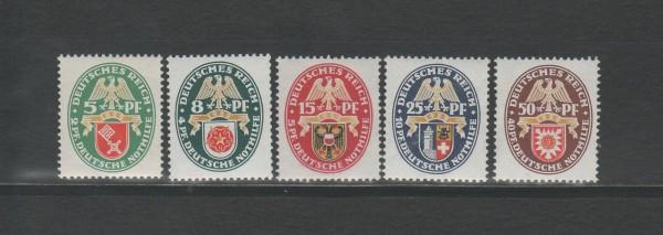 Deutsches Reich Mi-Nr. 430-434 ** postfrisch