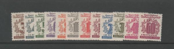 SBZ West-Sachsen Mi-Nr. 138-149 ** postfrisch