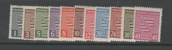 SBZ Provinz Sachsen Mi-Nr. 73-84X ohne 80X ** postfrisch
