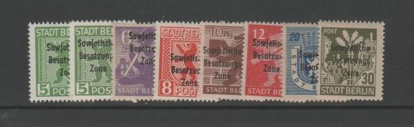 SBZ Mi-Nr. 200A-206 ** postfrisch