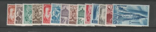 Französische Zone Baden Mi-Nr. 14-27 ** postfrisch