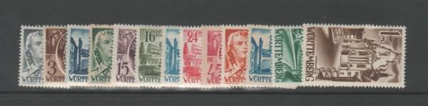 Französische Zone Württemberg Mi-Nr. 1-13 ** postfrisch