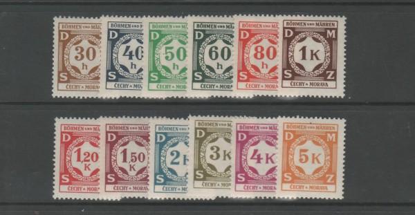 Böhmen und Mähren Dienstmarken Mi-Nr. 1-12 ** postfrisch