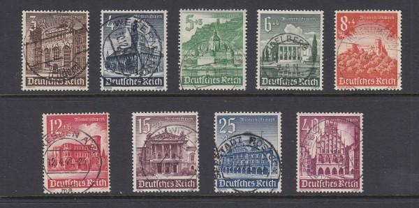 Deutsches Reich Mi-Nr. 751-759 zentrisch gestempelt