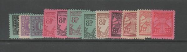 SBZ Mecklenburg-Vorpommern Mi-Nr. 8-19 ** postfrisch