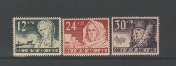 Generalgouvernement Mi-Nr. 56-58 ** postfrisch
