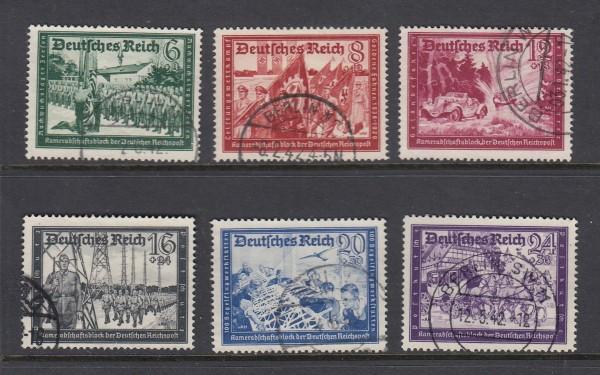 Deutsches Reich Mi-Nr. 773-778 gestempelt