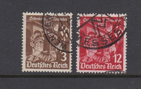 Deutsches Reich Mi-Nr. 598-599 gestempelt