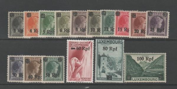 Besetzung II. Weltkrieg Luxemburg Mi-Nr. 17-32 ** postfrisch