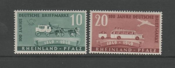 Französische Zone Rheinland Pfalz Mi-Nr. 49-50 ** postfrisch