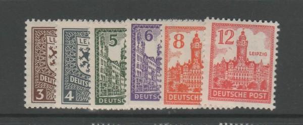 SBZ West-Sachsen Mi-Nr. 150-155Y ** postfrisch